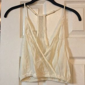 Urban Outfitters Cream Lace Crop NWT
